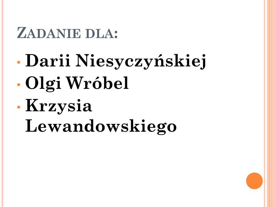 Krzysia Lewandowskiego