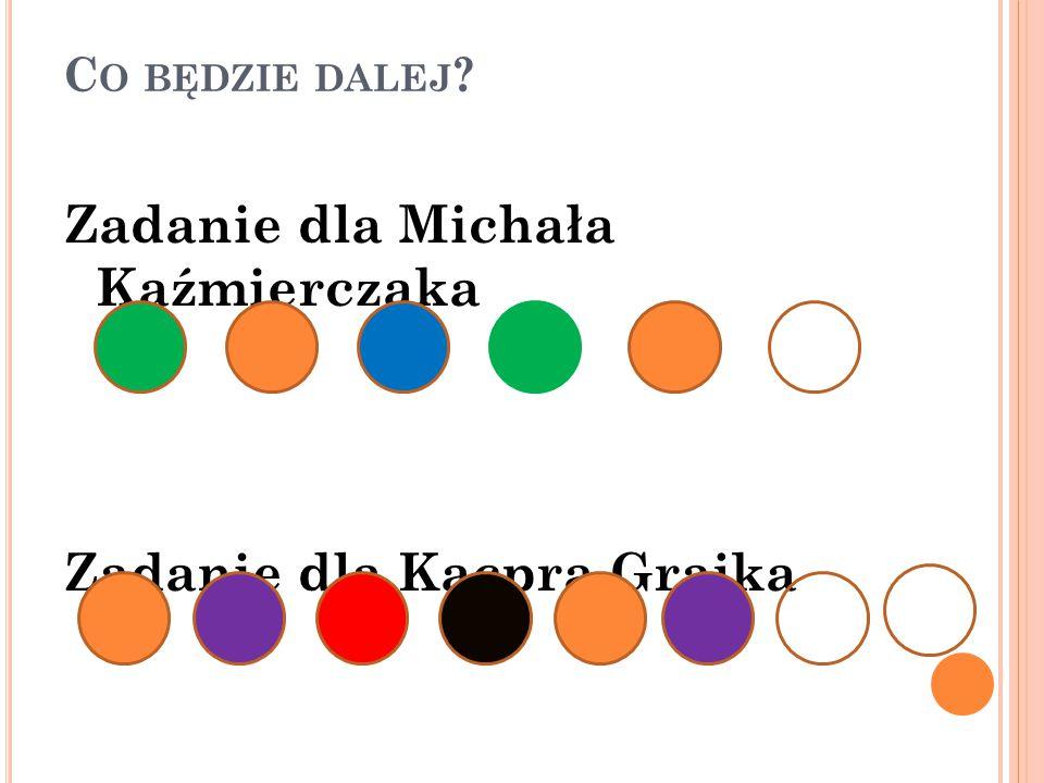 Zadanie dla Michała Kaźmierczaka Zadanie dla Kacpra Grajka
