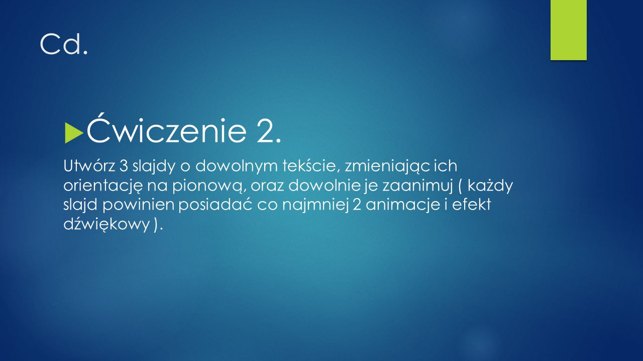 Cd. Ćwiczenie 2.
