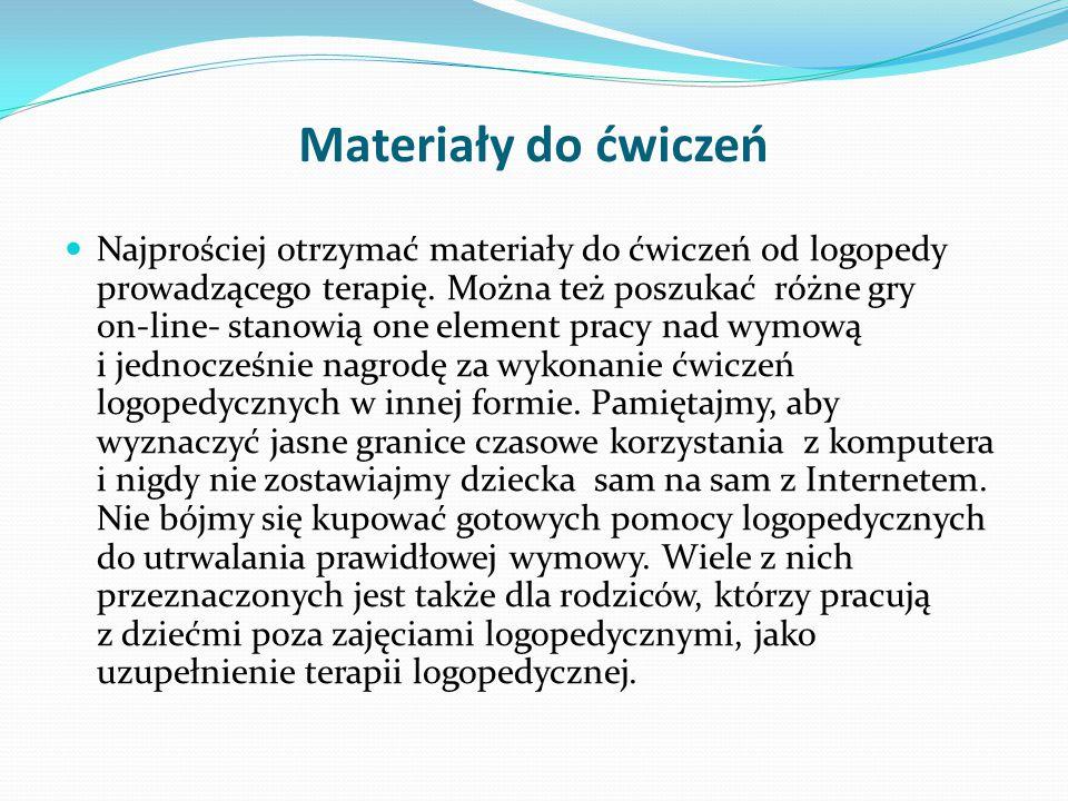 Materiały do ćwiczeń