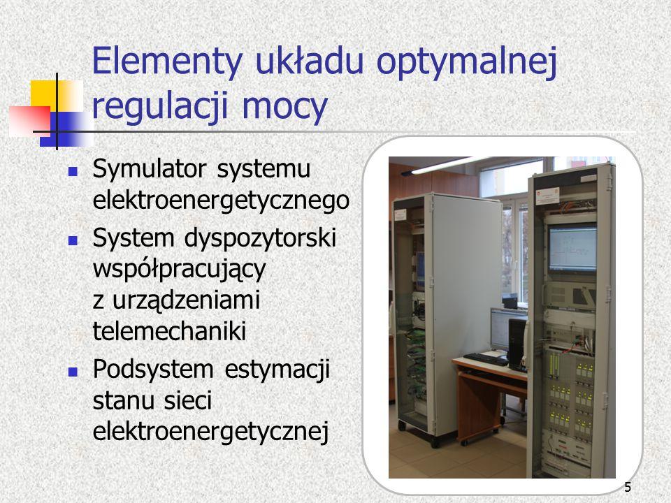 Elementy układu optymalnej regulacji mocy
