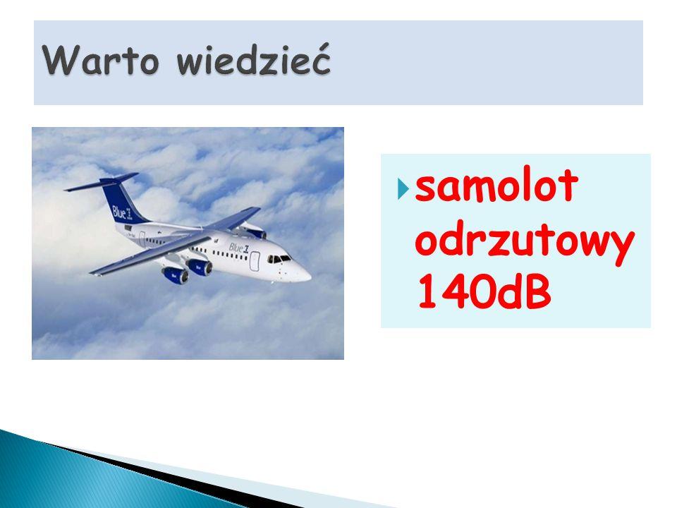 Warto wiedzieć samolot odrzutowy 140dB
