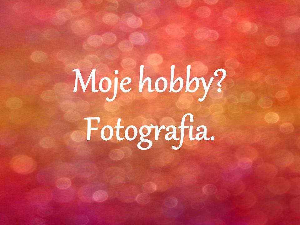 Moje hobby Fotografia.