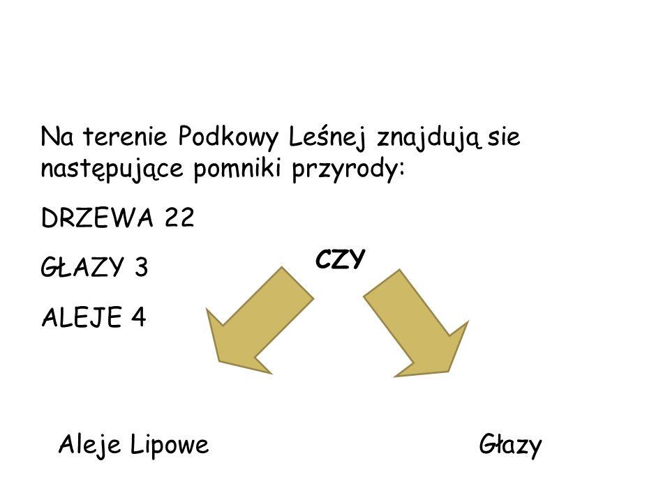 Pomniki przyrody Na terenie Podkowy Leśnej znajdują sie następujące pomniki przyrody: DRZEWA 22.