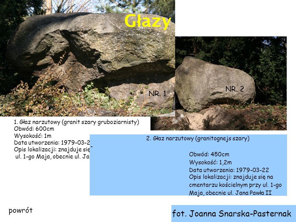 Głazy fot. Joanna Snarska-Pasternak NR. 2 NR. 1 powrót