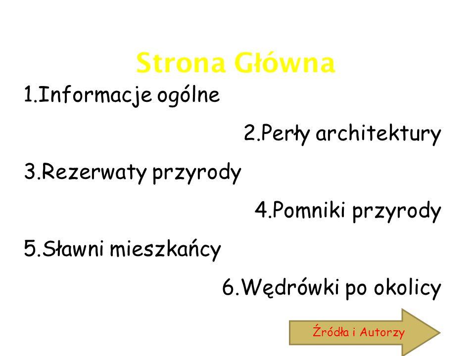 Strona Główna 1.Informacje ogólne 2.Perły architektury