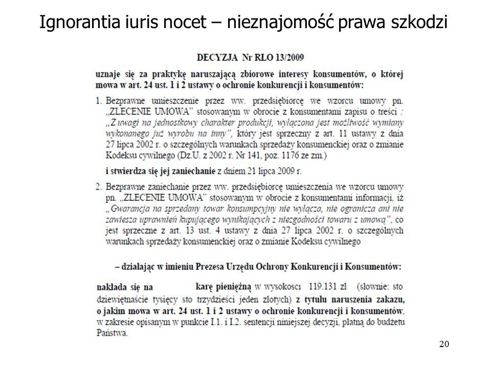 Ignorantia iuris nocet – nieznajomość prawa szkodzi