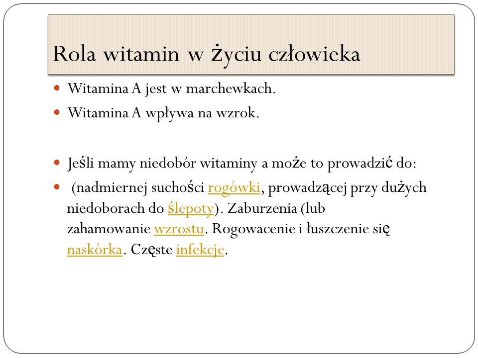 Rola witamin w życiu człowieka