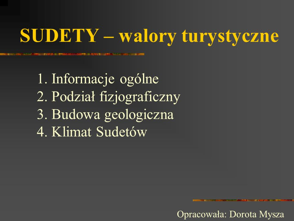 SUDETY – walory turystyczne
