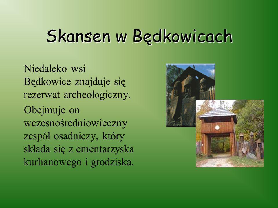 Skansen w Będkowicach Niedaleko wsi Będkowice znajduje się rezerwat archeologiczny.