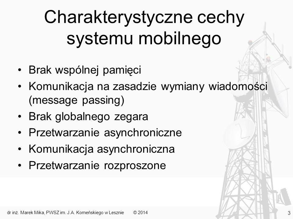 Charakterystyczne cechy systemu mobilnego