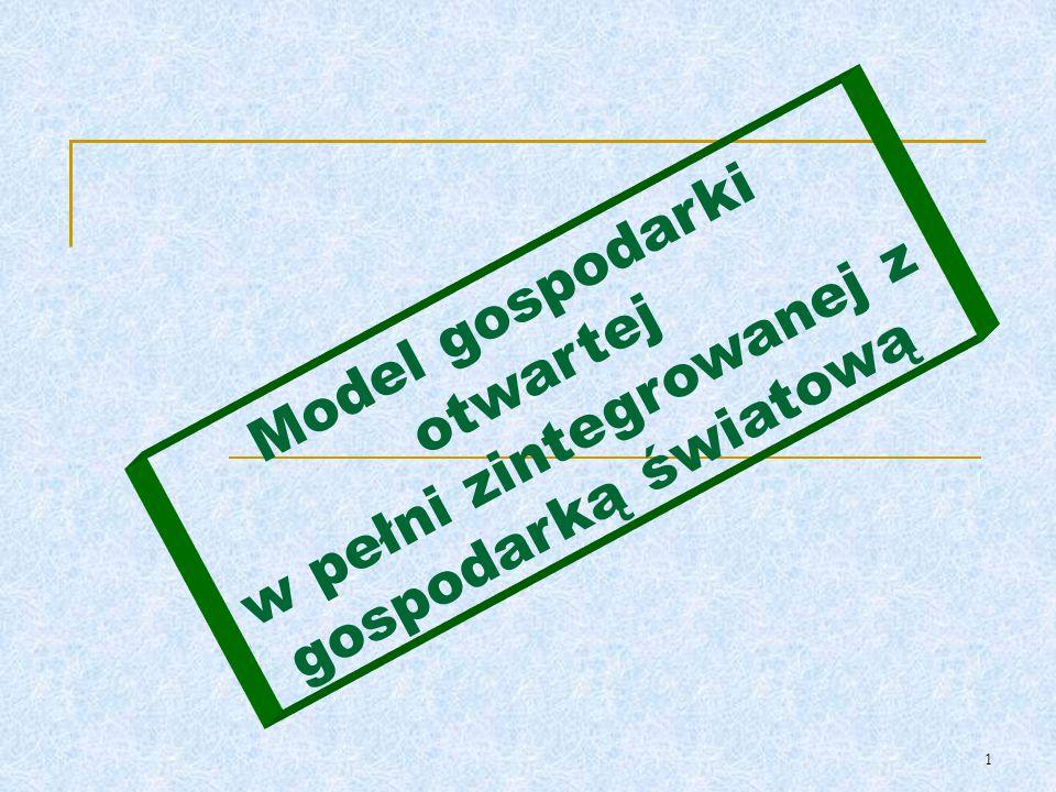 Model gospodarki otwartej w pełni zintegrowanej z gospodarką światową