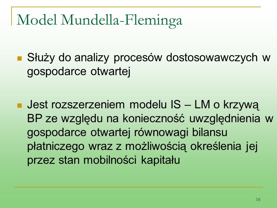 Model Mundella-Fleminga