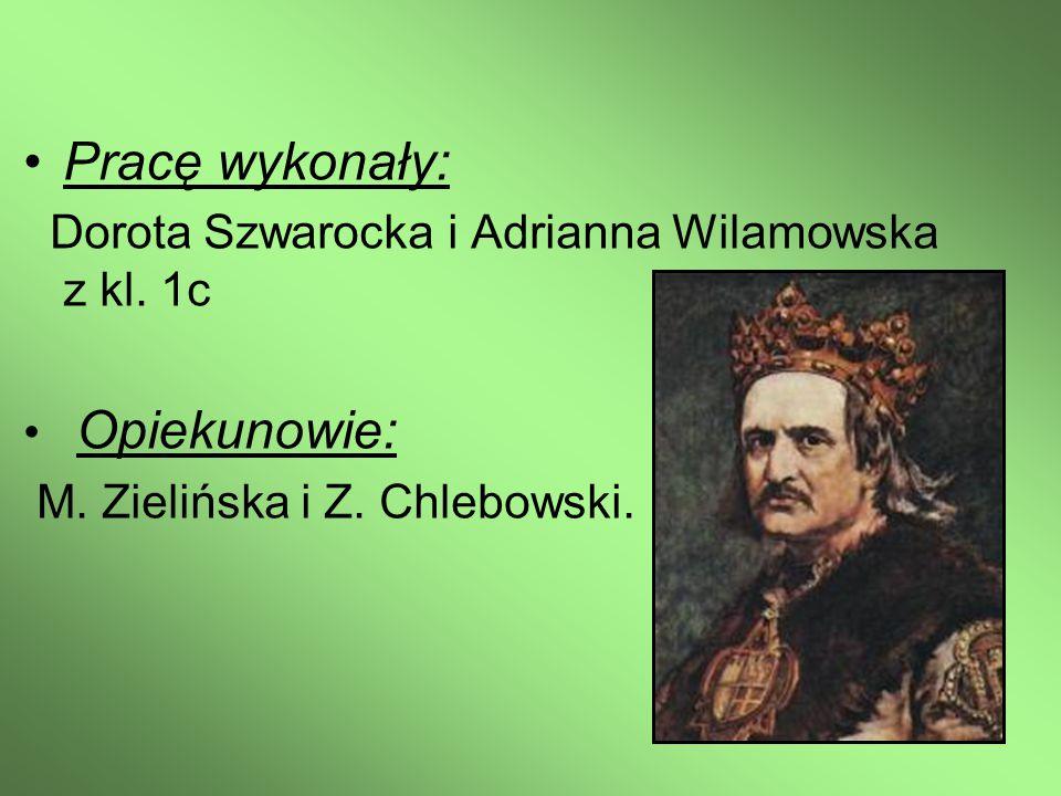 Pracę wykonały: Dorota Szwarocka i Adrianna Wilamowska z kl. 1c