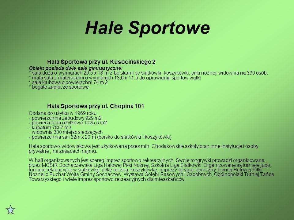 Hale Sportowe Hala Sportowa przy ul. Kusocińskiego 2