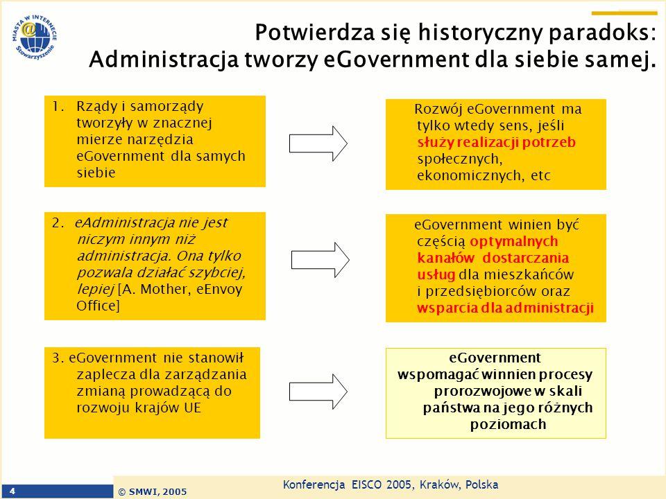 Potwierdza się historyczny paradoks: Administracja tworzy eGovernment dla siebie samej.