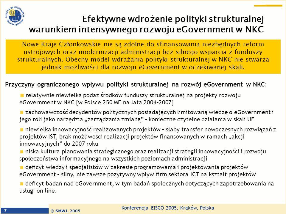 Efektywne wdrożenie polityki strukturalnej warunkiem intensywnego rozwoju eGovernment w NKC