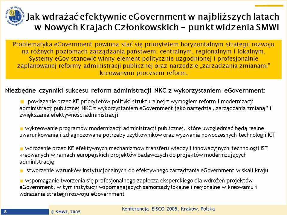 Jak wdrażać efektywnie eGovernment w najbliższych latach w Nowych Krajach Członkowskich – punkt widzenia SMWI