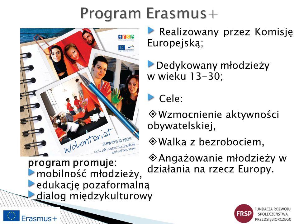 Program Erasmus+ Realizowany przez Komisję Europejską;