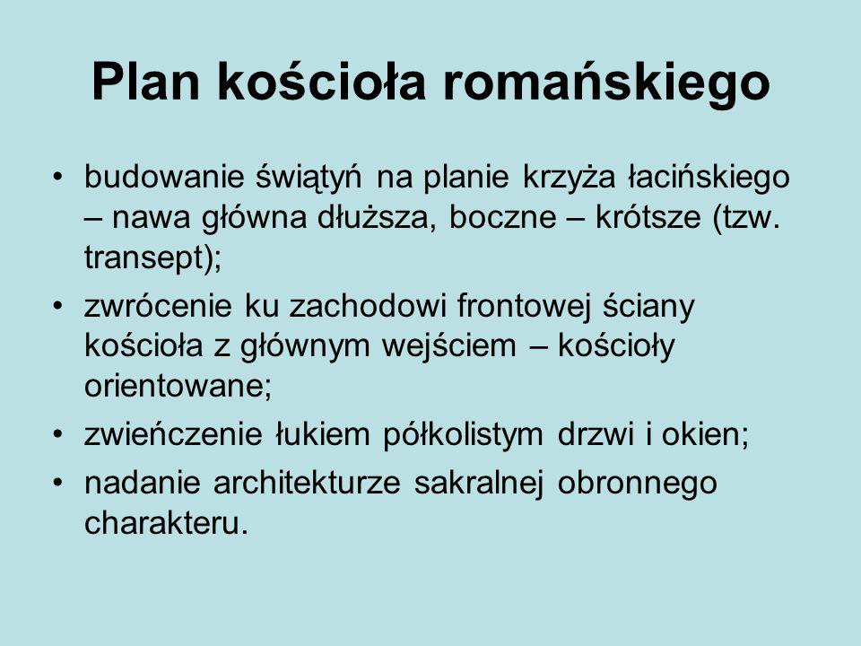 Plan kościoła romańskiego