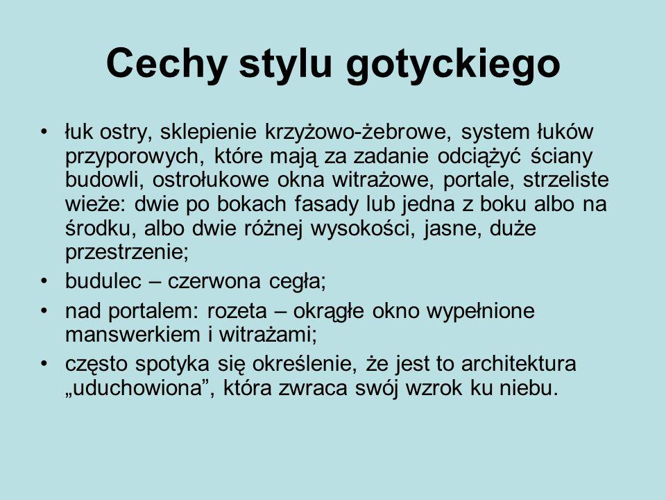 Cechy stylu gotyckiego