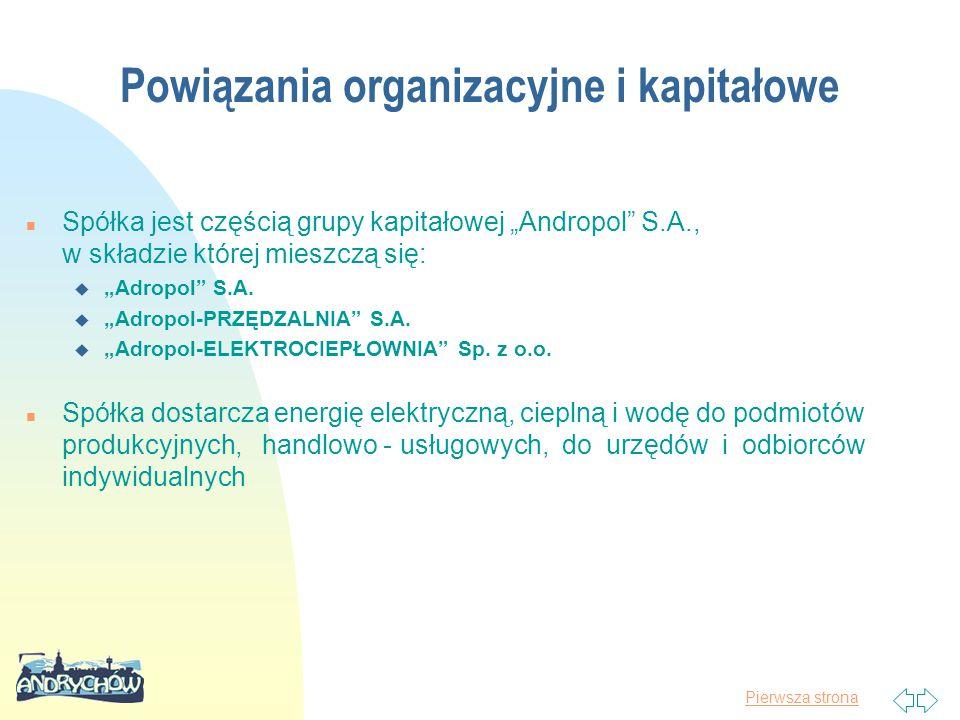 Powiązania organizacyjne i kapitałowe