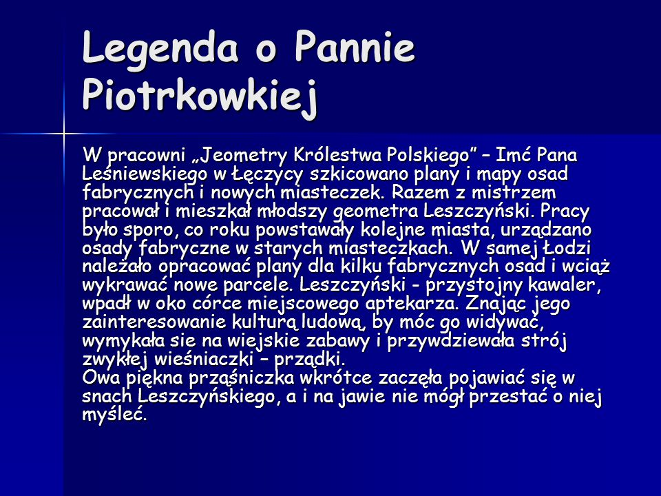 Legenda o Pannie Piotrkowkiej
