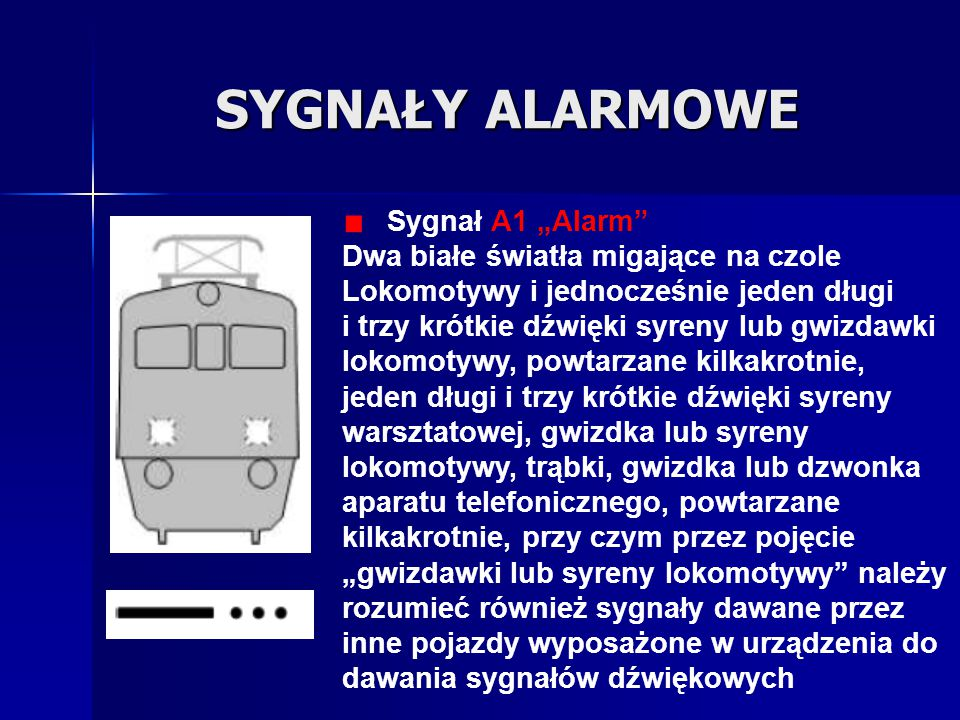 """SYGNAŁY ALARMOWE Sygnał A1 """"Alarm"""