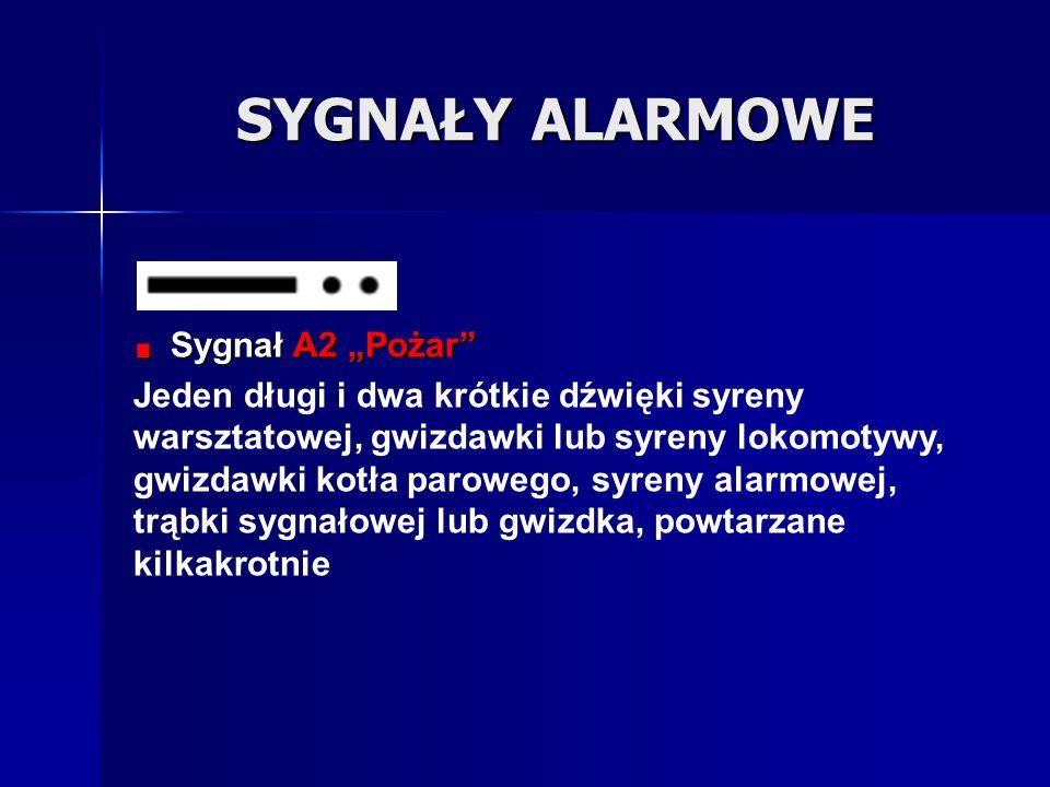 """SYGNAŁY ALARMOWE Sygnał A2 """"Pożar"""