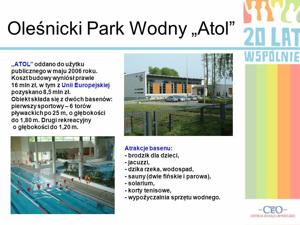 """Oleśnicki Park Wodny """"Atol"""
