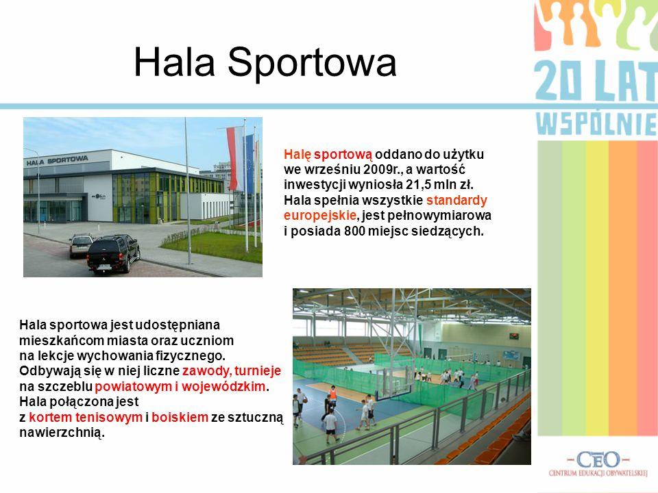 Hala Sportowa Halę sportową oddano do użytku
