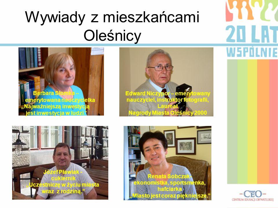 Wywiady z mieszkańcami Oleśnicy