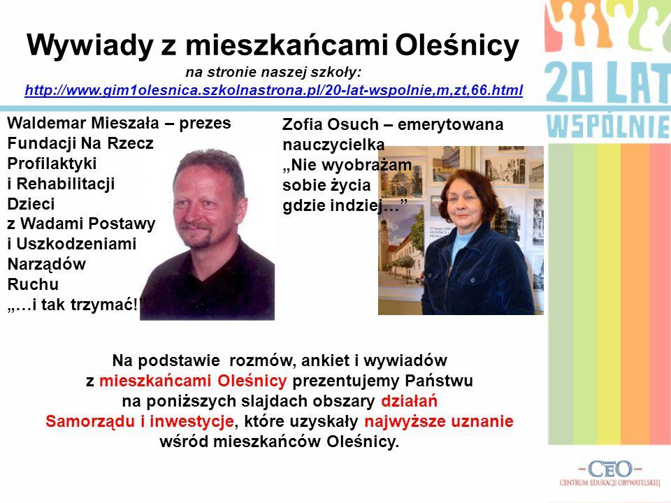 Wywiady z mieszkańcami Oleśnicy na stronie naszej szkoły: http://www