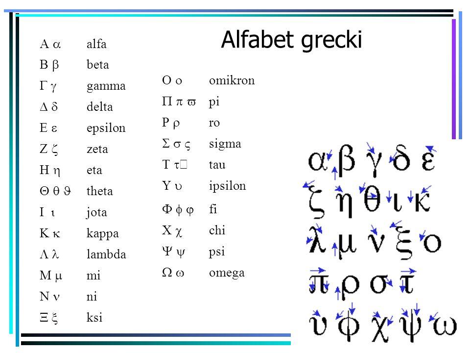 Alfabet grecki  alfa  beta  gamma  delta  epsilon