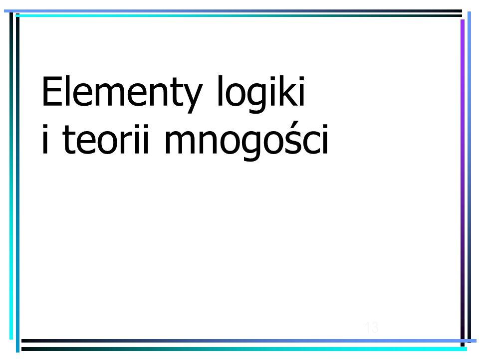 Elementy logiki i teorii mnogości