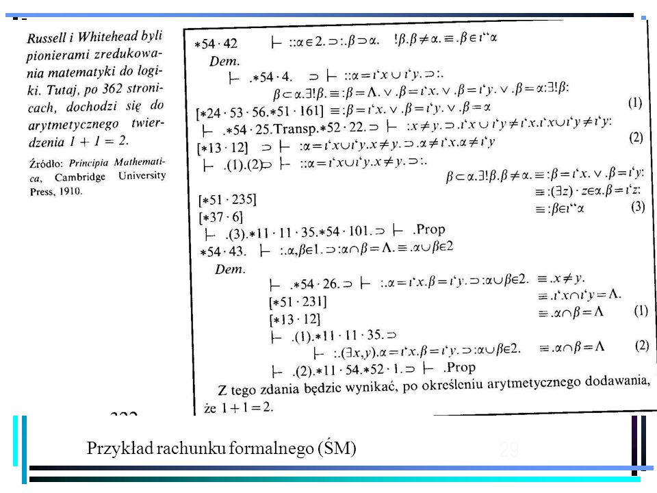 Przykład rachunku formalnego (ŚM)