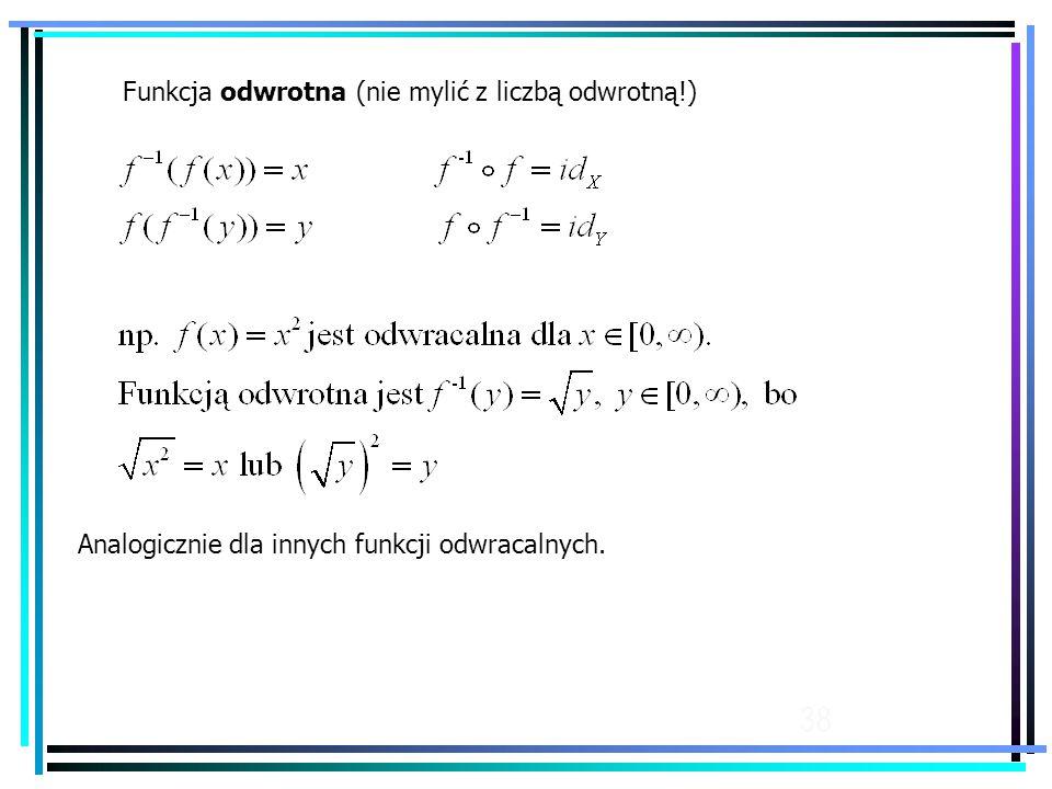 Funkcja odwrotna (nie mylić z liczbą odwrotną!)