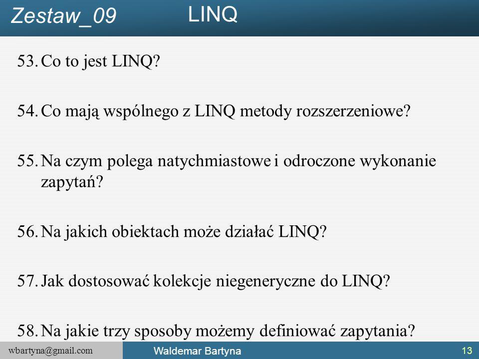 LINQ Zestaw_09 Co to jest LINQ