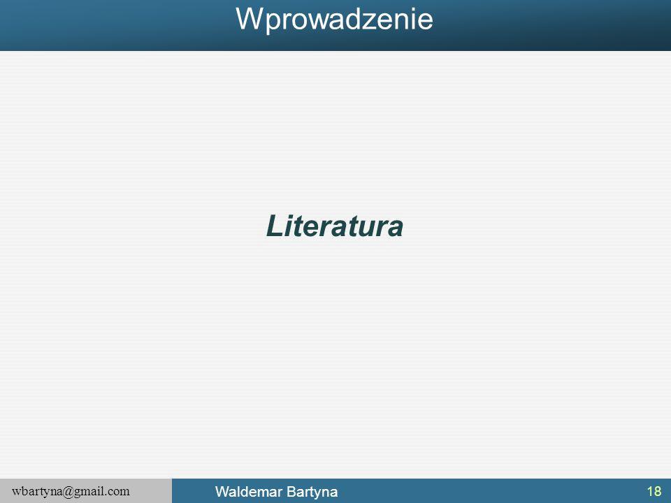 Wprowadzenie Literatura