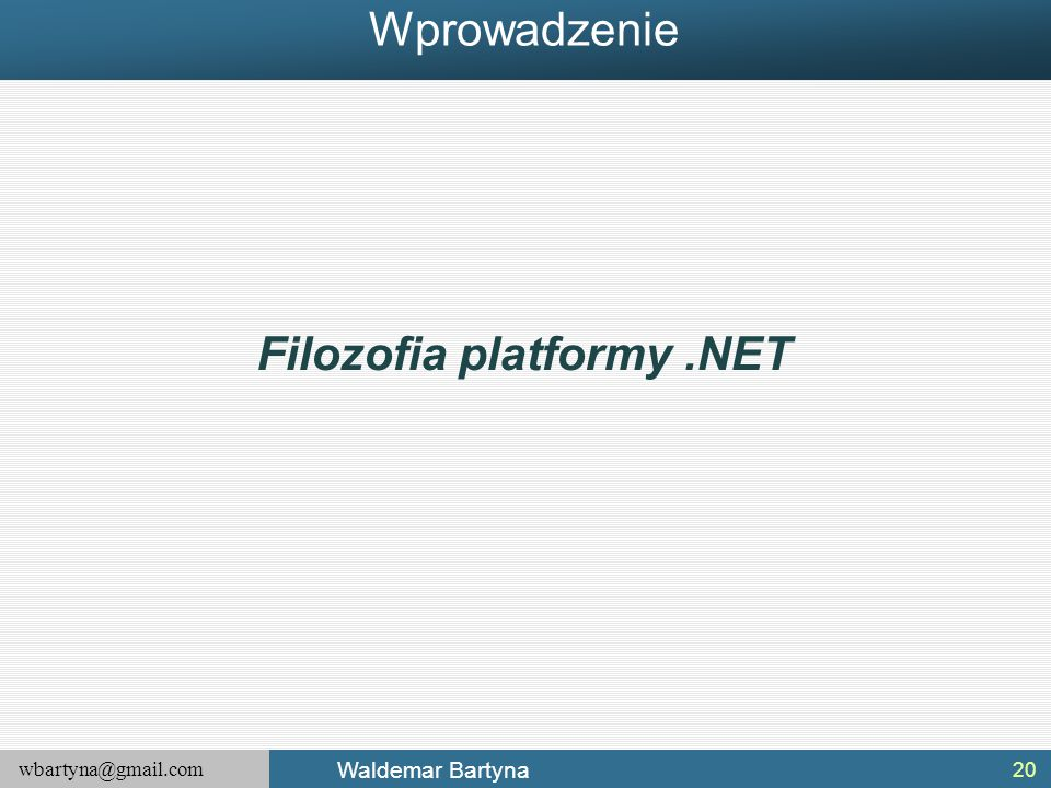Filozofia platformy .NET