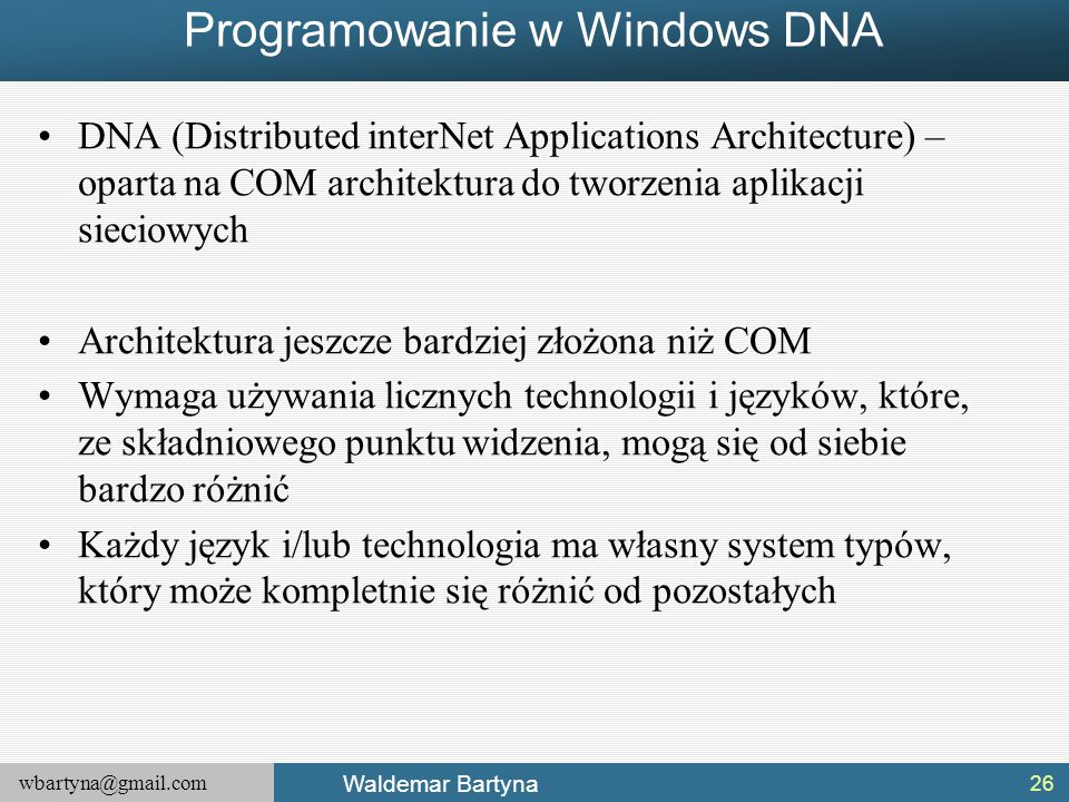 Programowanie w Windows DNA