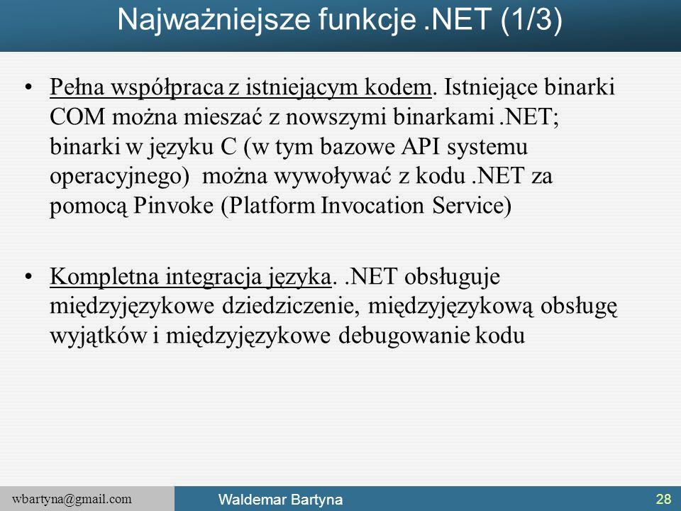 Najważniejsze funkcje .NET (1/3)