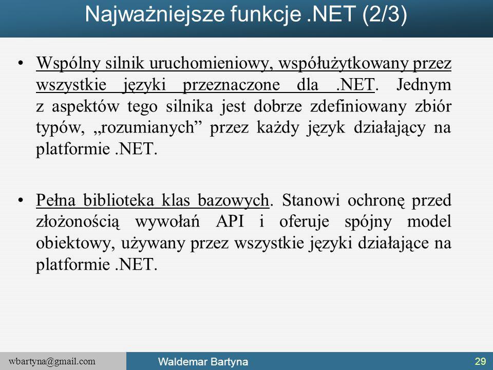 Najważniejsze funkcje .NET (2/3)
