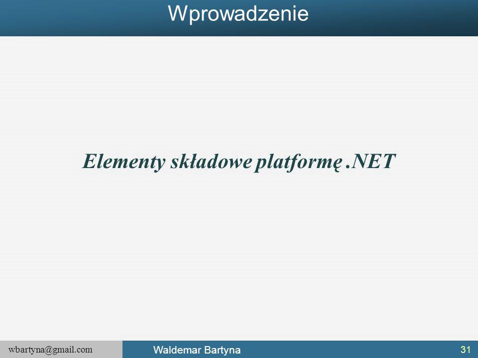 Elementy składowe platformę .NET