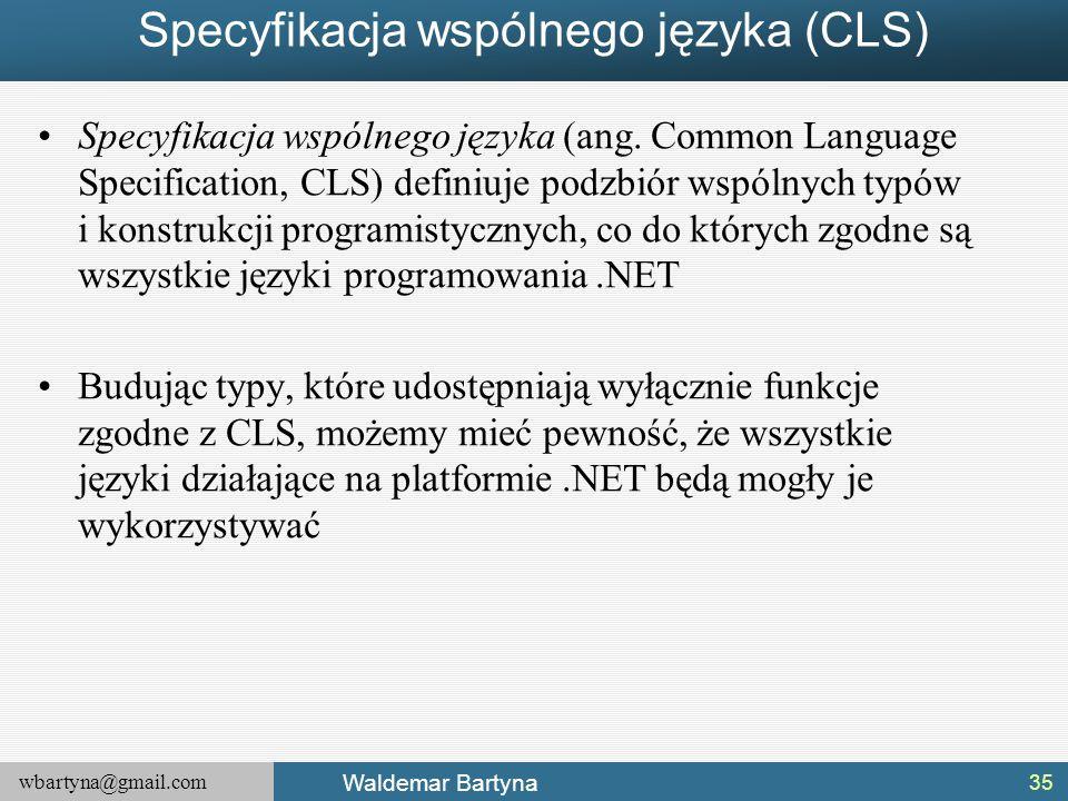 Specyfikacja wspólnego języka (CLS)