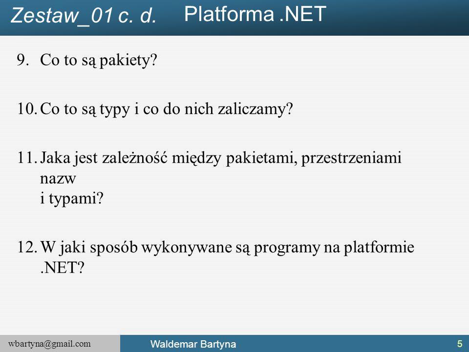 Platforma .NET Zestaw_01 c. d. Co to są pakiety
