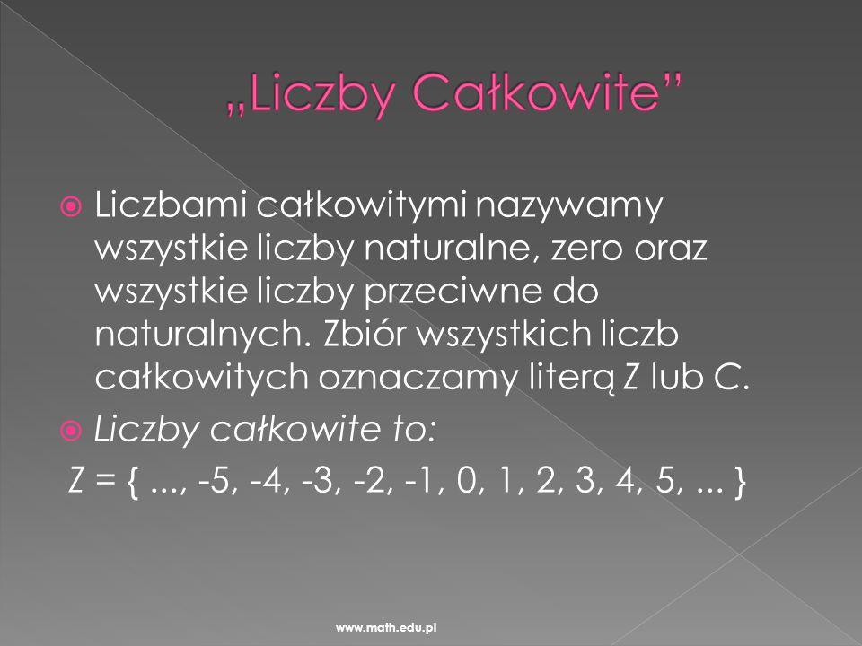 """""""Liczby Całkowite"""