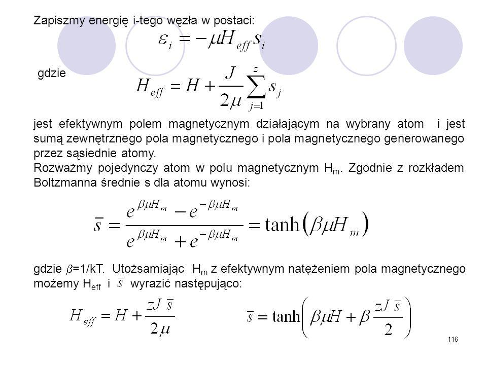 Zapiszmy energię i-tego węzła w postaci: