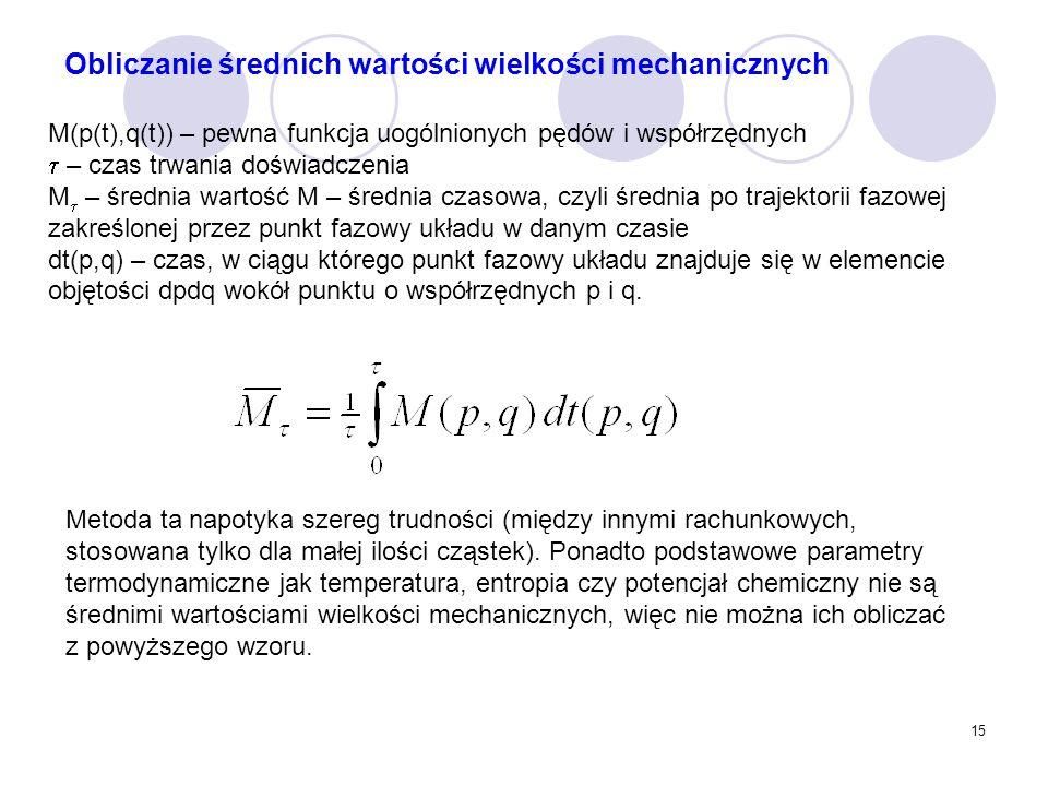 Obliczanie średnich wartości wielkości mechanicznych