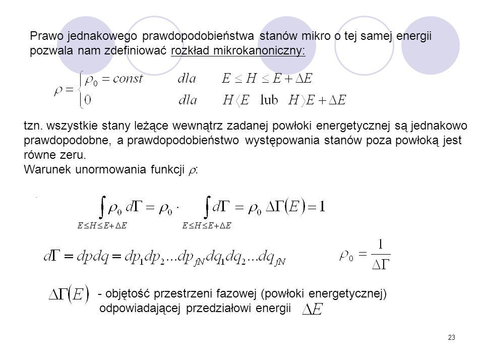 Warunek unormowania funkcji :